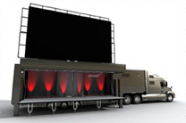 46 square metre mobile LED screen
